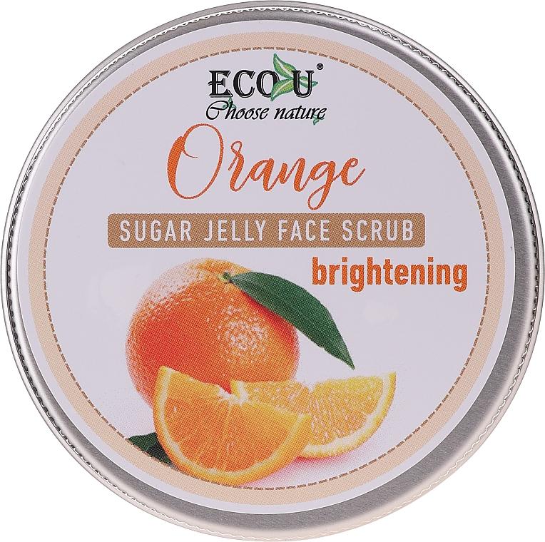 Zesvětlující pleťový peeling s cukrovým želé a pomerančem - Eco U Orange Brightening Sugar Jelly Face Scrub