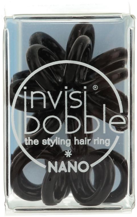 Gumičky do vlasů, 3 ks - Invisibobble Nano True Black — foto N1