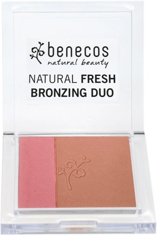 Tvářenka-bronzer na obličej - Benecos Natural Fresh Bronzing Duo — foto N1