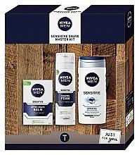 Parfémy, Parfumerie, kosmetika Sada - Nivea Sensetive Shave Master (sh/foam/200ml + sh/gel/250ml + a/sh/balm/100ml)