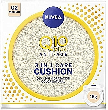 Parfémy, Parfumerie, kosmetika Make-up v houbičce 3v1 - Nivea Q10 Plus Anti-Aging Radiance BB Cushion