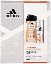 Parfémy, Parfumerie, kosmetika Sada - Adidas Adipower Men (sh/gel/250ml + deo/spray/150ml)