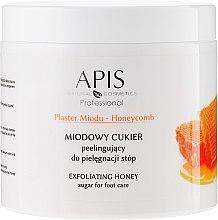Parfémy, Parfumerie, kosmetika Medový cukrový peeling na nohy - APIS Professional Honeycomb Exfoliating Honey Sugar For Foot Care
