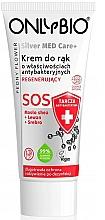 Parfémy, Parfumerie, kosmetika Regenerační krém na ruce - Only Bio Silver Med Care+ SOS Peony Flower Hand Cream
