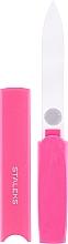 Parfémy, Parfumerie, kosmetika Křišťálový pilník na nehty v plastovém pouzdře FBC-13-128, růžový - Staleks