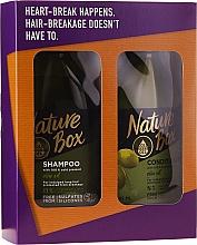 Parfémy, Parfumerie, kosmetika Sada - Nature Box Olive Oil Set (shmp/385ml + cond/385ml)