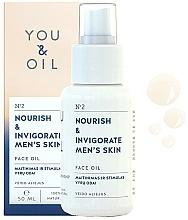 Parfémy, Parfumerie, kosmetika Pleťový olej Výživa a svěžest - You & Oil Nourish & Invigorate Men's Skin Face Oil