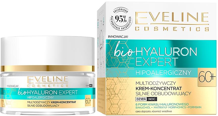 Ultra hydratační denní a noční krémový koncentrát - Eveline Cosmetics BioHyaluron Expert 60+