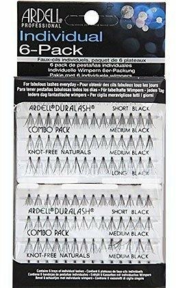 Trsové řasy, kombinované, černé, bez uzlíků - Ardell Set Individual Combo Pack Black — foto N1