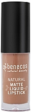 Parfémy, Parfumerie, kosmetika Tekutá matná rtěnka - Benecos Natural Matte Liquid Lipstick