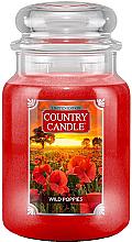 Parfémy, Parfumerie, kosmetika Vonná svíčka ve skle - Country Candle Wild Poppies