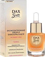 Parfémy, Parfumerie, kosmetika Koncentrát pro opalování - Dax Sun Self-tanning Concentrated Drops