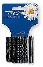 Parfémy, Parfumerie, kosmetika Gumičky do vlasů 12 ks, černý+stříbrný, 22357 - Top Choice