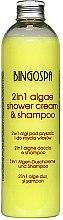 Parfémy, Parfumerie, kosmetika Šampon na vlasy s botanickým komplexem - BingoSpa 2 in 1 Algae Shower Cream & Shampoo