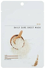 Parfémy, Parfumerie, kosmetika Látková pleťová maska s rýžovým extraktem - Eunyul Daily Care Mask Sheet Rice