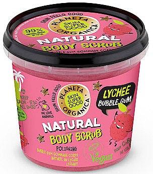 Tělový peeling - Planeta Organica Natural Body Scrub Lychee & Bubble Gum