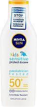 Parfémy, Parfumerie, kosmetika Opalovací krém pro děti - Nivea Sun Kids Pure & Sensitive Sun Lotion SPF50+