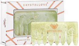 Parfémy, Parfumerie, kosmetika Nefritový masážní hřeben na pokožku hlavy - Crystallove