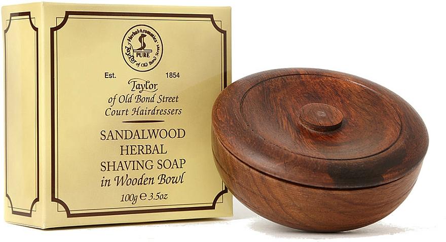 Mýdlo na holení Santalové dřevo - Taylor Of Old Bond Street Sandalwood Herbal Shaving Soap — foto N2