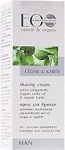 Parfémy, Parfumerie, kosmetika Krém na holení - ECO Laboratorie Man's Shaving Cream Cedar & Karite