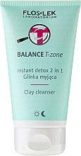 Parfémy, Parfumerie, kosmetika Čisticí hlína na obličej - Floslek Balance T-zone Instant Detox 2in1 Clay Cleanser