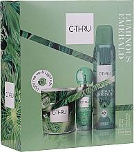 Parfémy, Parfumerie, kosmetika C-Thru Luminous Emerald - Sada (deo/150ml + edt/30ml + candle/1pcs)