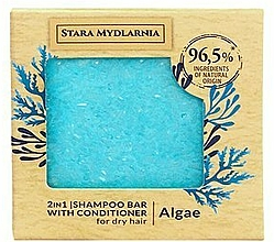 Parfémy, Parfumerie, kosmetika Tuhý šampon-kondicionér - Stara Mydlarnia Algae 2in1 Shampoo Bar
