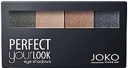 Parfémy, Parfumerie, kosmetika Čtyřbarevné oční stíny - Joko Perfect Your Look Quattro Eye Shadows New