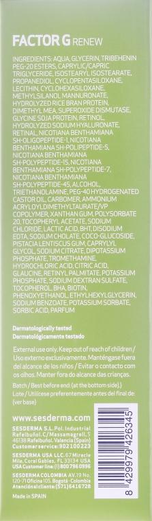Omlazující krém pro oválný obličej a krk - SesDerma Laboratories FactorG Renew Oval face & Neck — foto N3