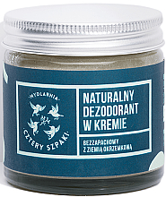 Parfémy, Parfumerie, kosmetika Krémový deodorant bez parfemace - Cztery Szpaki