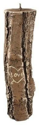Aromatická svíčka, 7x26 cm., dřevo - Artman Stump Valentin — foto N1