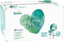 Parfémy, Parfumerie, kosmetika Dětské vlhčené ubrousky, 9x48 ks - Pampers Aqua Pure Wipes