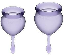 Parfémy, Parfumerie, kosmetika Sada menstruačních kalíšků, fialové - Satisfyer Feel Good Menstrual Cups Lila