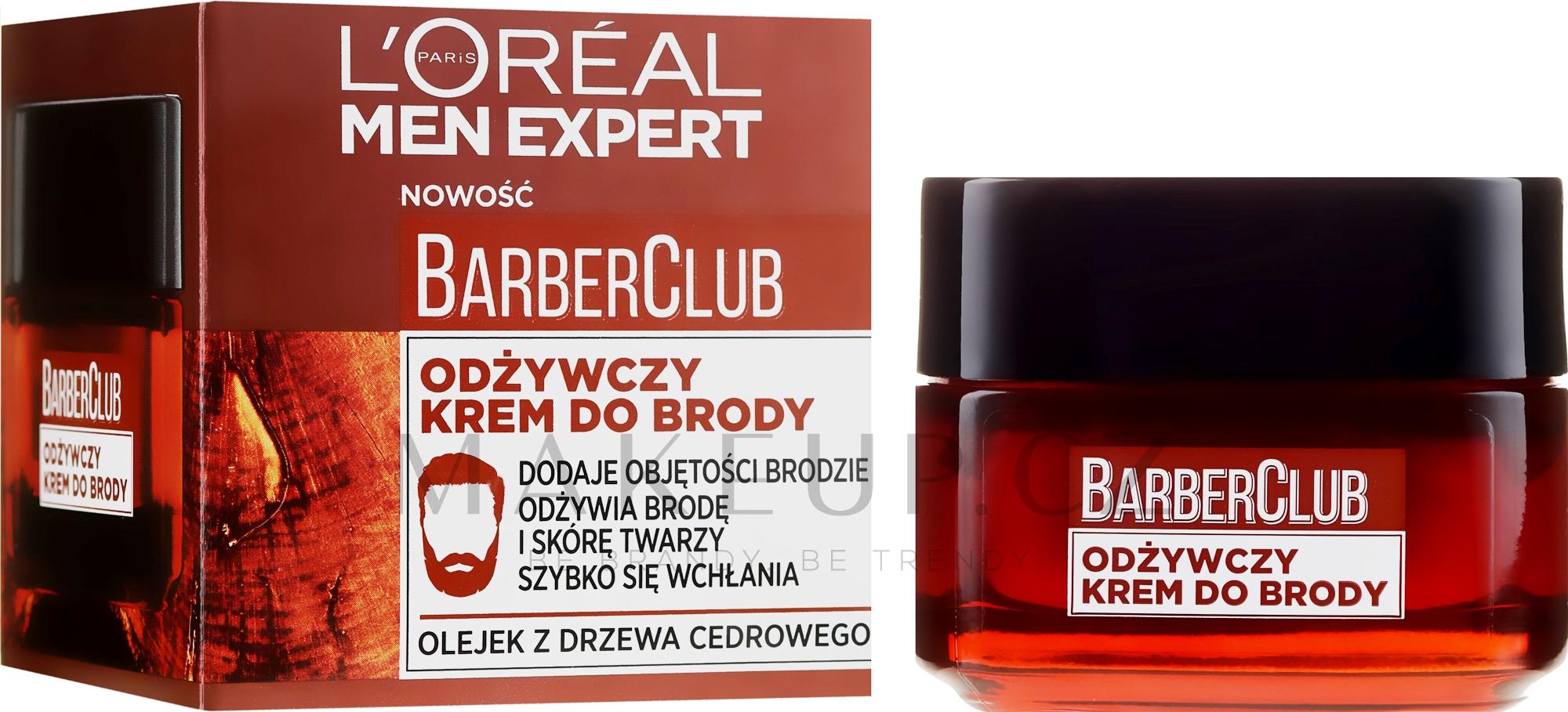 Krém na vousy výživný - L'Oreal Paris Men Expert Barber Club — foto 50 ml