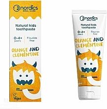 Parfémy, Parfumerie, kosmetika Dětská zubní pasta Pomeranč a klementinka - Nordics Kids Orange Clementine Toothpaste