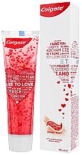Parfémy, Parfumerie, kosmetika Zubní pasta se srdíčky, bílá - Colgate Dare To Love