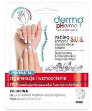 Parfémy, Parfumerie, kosmetika Regenerační maska-obklad na nehty - Dermo Pharma Skin Repair Expert S.O.S. Regenerating& Strengthening Fingernails Mask