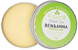 Parfémy, Parfumerie, kosmetika Přírodní krémový deodorant - Ben & Anna Persian Lime Soda Cream Deodorant