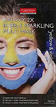 "Parfémy, Parfumerie, kosmetika Multimaska bahenní pěnivá ""Žlutá / modrá"" - Purederm Galaxy 2X Bubble Sparkling Multi Mask"