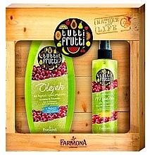 Parfémy, Parfumerie, kosmetika Sada Gruša a brusinky - Farmona Tutti Frutti (oil/425ml + b/mist/200ml)