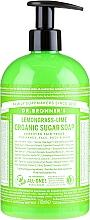 Parfémy, Parfumerie, kosmetika Cukrové tekuté mýdlo Lemongrass a limetka - Dr. Bronner's Organic Sugar Soap Lemongrass Lime