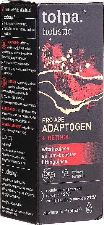 Oživující liftingové sérum-booster pro obličej - Tolpa Holistic Pro Age Adaptogen + Retinol — foto N1