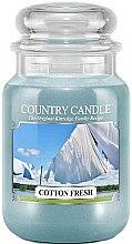 Parfémy, Parfumerie, kosmetika Vonná svíčka ve sklenici - Country Candle Cotton Fresh