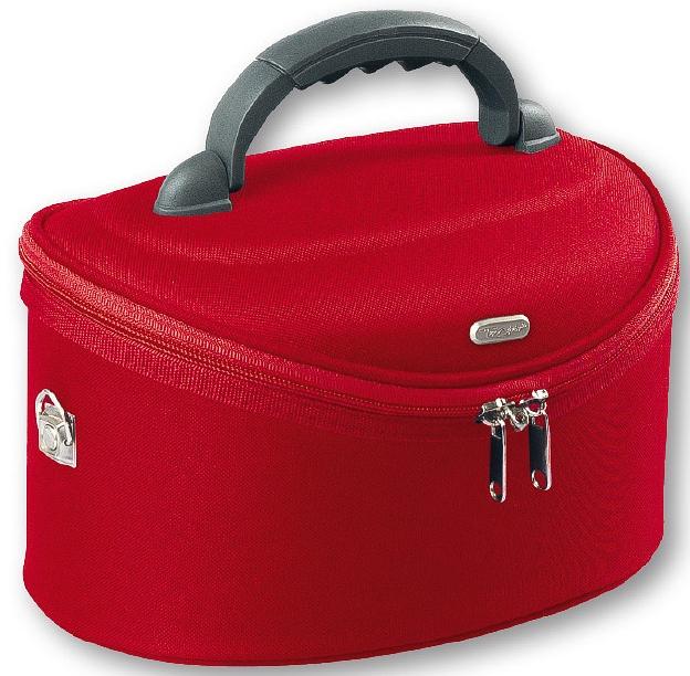 Kosmetická taštička velká oválná, 95085, červená - Top Choice Oval Red