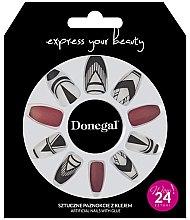Parfémy, Parfumerie, kosmetika Sada umělých nehtů, červené s bílou - Donegal Express Your Beauty