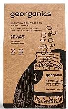 Parfémy, Parfumerie, kosmetika Tablety na výplach úst Aktivní uhlí - Georganics Mouthwash Tablets Refill Pack Activated Charcoal (náhradní náplň)
