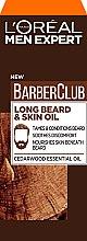 Parfémy, Parfumerie, kosmetika Olej na péči o vousy a pokožku obličeje - L'Oreal Paris Men Expert Barber Club Long Beard + Skin Oil