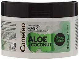 Parfémy, Parfumerie, kosmetika Hydratační maska na vlasy Aloe a Kokos - Delia Cosmetics Cameleo Aloe & Coconut Mask