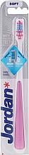 Parfémy, Parfumerie, kosmetika Zubní kartáček, měkký, růžový - Jordan Shiny White Toothbrush Soft