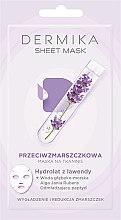 Parfémy, Parfumerie, kosmetika Pleťová maska proti vráskám s levandulovým hydrolátem - Dermika Sheet Mask